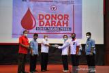 Sebanyak ini, darah terkumpul dalam donor digelar PT Semen Padang, Rabu