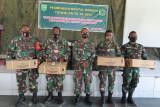 Prajurit TNI, PNS dan Persit Mimika mendapat pembinaan mental