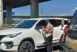 Hari pertama pemberlakuan ganjil-genap, arus lalu lintas di Ancol lancar