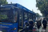 TransJakarta rute Blok M-Balaikota mulai layani penumpang dengan bus listrik