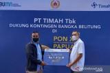 PT Timah serahkan bantuan dana transportasi atlet PON Babel Rp1,4 miliar