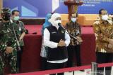 Gubernur Khofifah: Sepuluh kabupaten kota di Jawa timur berstatus PPKM level 1