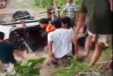 Tiga penumpang mobil tenggelam di Sungai Konaweha Konawe meninggal dunia