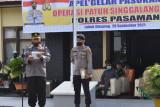 Operasi Patuh Singgalang di Pasaman untuk meningkatkan kepatuhan prokes dan tertib lalin