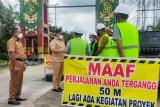 Jalan utama masuk Sampit mulai dibuka terbatas