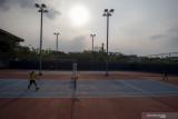 Latihan Atlet Tenis Lapangan Sumatera Selatan