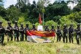 Satgas TNI Yonif 512 patroli patok batas negara MM 4.2 di perbatasan RI-PNG