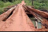 Perbaiki Jembatan Penyompa penghubung antar kecamatan di Seruyan