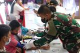 Akabri 98 Nawahasta laksanakan Vaksinasi dan Baksos di Mako Polda Kaltara