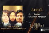 Mahasiswa UPI raih juara 2 tingkat nasional Kompetisi Ilmu Bisnis, Manajemen dan Keuangan 2021
