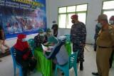 Lantamal VIII Manado gelar Serbuan vaksinasi  masyarakat maritim di Sangkup