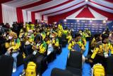 PON Papua- Kontingen Lampung mendapat sambutan hangat