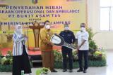 PT Bukit Asam hibahkan 24 kendaraan dan ambulans ke Pemprov Lampung