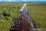 Jalan Trans Kalimantan Bukit Rawi Masih Terendam Banjir