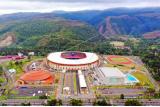 Foto aerial kompleks Olahraga Kampung Harapan yang digunakan sebagai venue PON Papua di Distrik Sentani Timur, Kabupaten Jayapura, Papua, Rabu (22/9/2021). ANTARA FOTO/Gusti Tanati/sgd/wsj.