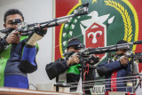 Latihan Atlet Menembak Kalteng Untuk PON Papua