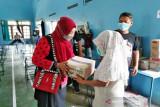 Setelah divaksin, warga Desa Kuwiran Boyolali mendapat hadiah