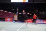 Timnas bulu tangkis Indonesia mulai berlatih di arena utama Piala Sudirman