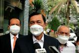 Luhut selesai sampaikan klarifikasi soal laporan terhadap aktivis Haris Azhar