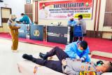 Sambut Sumpah Pemuda, Polres Enrekang gelar donor darah