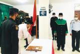 Napi teroris Lapas Pasir Putih Nusakambangan berikrar setia NKRI