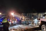 Truk bermuatan air kemasan terlibat tabrakan beruntun akibatkan dua orang tewas