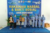 Vaksinasi Massal dan Bakti Sosial Lanud Anang Busra bersama PT. Intracawood