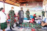 Kodam XVII/Cenderawasih gelar donor darah sambut HUT ke-76 TNI