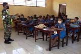 TNI mengajar wasbang tanamkan disiplin bagi anak usia dini
