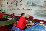OJK Sulawesi Tenggara gelar donor darah peringati ulang tahun ke-10