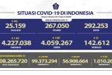 Penerima dua dosis vaksin COVID-19 capai 56,9 juta orang
