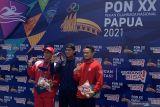 PON XX Papua - Jawa Barat tambah emas lewat selam laut 3.000 meter finswimming putra