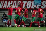 Cristiano Ronaldo cetak trigol Portugal gilas Luksemburg 5-0