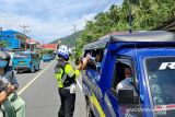 Satlantas Polres Sangihe imbau warga patuhi Prokes