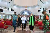 Wapres Ma'ruf Amin kunjungi gereja GKI Pniel Kotaraja Jayapura