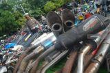 Polres Madiun Jatim amankan puluhan motor berknalpot tak standar
