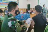 800 warga ikut vaksinasi COVID-19 di Kodim Polewali Mandar