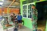 Satgas TNI Yonif 512 beri layanan kesehatan warga perbatasan RI-PNG