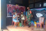 Kodim Sangihe laksanakan vaksinasi di lokasi pameran