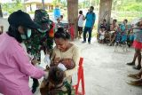 TNI  bantu Puskesmas berikan layanan kesehatan warga Yuweinda Keerom