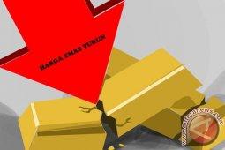 Harga Emas turun lagi akibat tertekan pembukaan kembali ekonomi