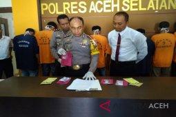 Polres Aceh Selatan tangkap delapan tersangka narkoba