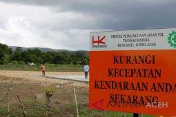 Pembebasan tanah tol Sigli-Banda Aceh dua tahun
