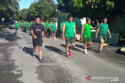 Demi kesehatan dan kebersamaan personel Kodim 0204/DS olahraga bareng Dandim