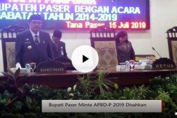 Bupati Paser Minta APBD-P 2019 Segera Disahkan