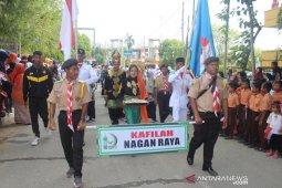 Pawai ta'ruf kafilah Nagan Raya jadi perhatian warga di MTQ Pidie