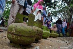 Gas 3 kilogram tembus Rp25 ribu per tabung di Bengkulu