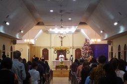 Kilas Balik 2019 - Ratusan jemaat Denpasar jalani misa Natal di Gereja Oikumene Immanuel