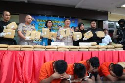 Empat pengedar 374 kg ganja asal Aceh diringkus polisi di Jakarta Selatan