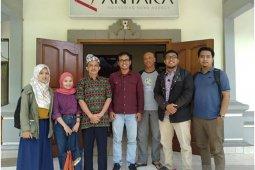 Awak media EraMadani.com dan infodenpasar.id kunjungi ANTARA Bali